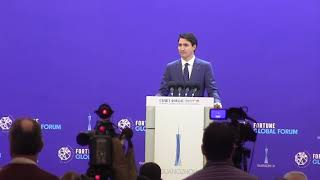Download Justin Trudeau warns against protectionism Video