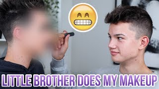 Download LITTLE BROTHER DOES MY MAKEUP! Video