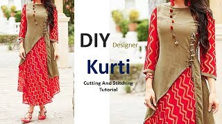 Download DIY Designer Kurti Cutting And Stitching Full Tutorial Video