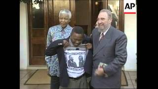 Download Castro meets Mandela + Cuba and ANC solidarity rally Video