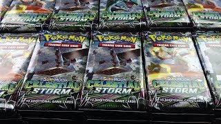 Download Opening Pokemon Cards - 1,000 Celestial Storm Pokemon Booster Packs! Video