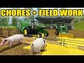 Download FARMING SIMULATOR 2017 | PIG CHORES + FINISHING FALL HARVEST | EP. #21 Video