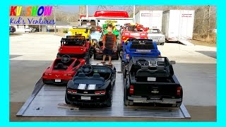 Download HUGE POWER WHEELS COLLECTIONS PART 2! Kid Loading All Of His Power Wheels Ride On Cars For Kids Video