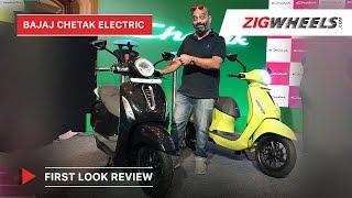 Download Bajaj Chetak Electric - Price, Top Speed, Range, Charging Time | First Look Review | ZigWheels Video