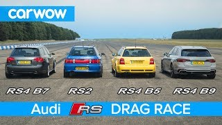 Download Audi RS4 generations DRAG RACE, ROLLING RACE & review | carwow Video