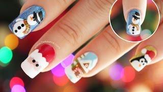 Download Decoración de uñas navidad MUÑECO DE NIEVE - Snowman nail art Video