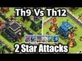 Download Th9 vs Th12 | 2 Star Attack Replays | Must Watch ! Video