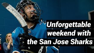 Download Young Sharks fan had open heart surgery in April; Friday, he skated with his idols Video
