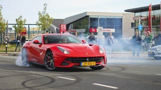 Download Supercars Arriving - BURNOUTS and Accelerations! F12berlinetta, M6 GT3, Carrera GT, M4 DTM etc! Video