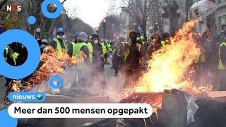 Download Chaos in Parijs bij demonstratie gele hesjes Video