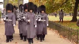 Download Marching back to Wellington barracks Video