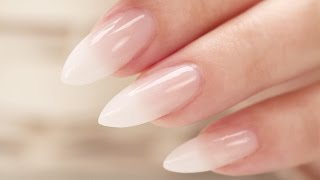 Download French Fade / Baby Boomer Almond Acrylic Nails - Three Color Fade Video