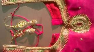 Download Simple Thread and Zari Work Design for blouse by lakshmimaggamwork Video