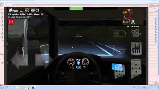 Download Grand Truck Simulator - Night ride with heavy fog - Scania V8 + Randon Bitren + Pente na turbina mod Video
