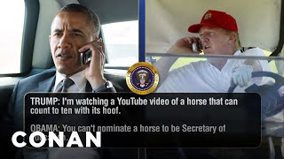 Download Trump Talks To Obama, Dad To Dad - CONAN on TBS Video