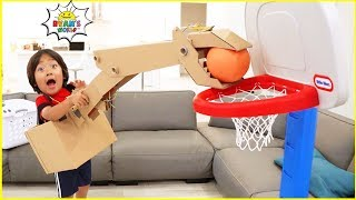 Download Easy DIY Crane Machine with Ryan vs Daddy Ball Game!!! Video