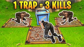 Download 1 TRAP 3 KILLS! Epic Trap Trolling | Fortnite Best Stream Moments #2 (Battle Royale) Video