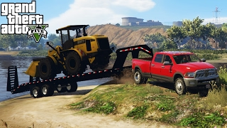 Download DODGE RAM 3500 HEAVY TOWING CHALLENGE! 4x4 Off-Roading, Hauling, Mudding! (GTA 5 PC Mods) Video