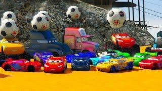 Download Cars 3 Colors LIGHTNING MCQUEEN Jackson Storm Fabulous MONSTER TRUCK Cruz Ramirez. Video
