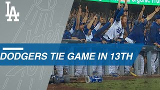 Download Dodgers tie the game in the 13th on an error Video