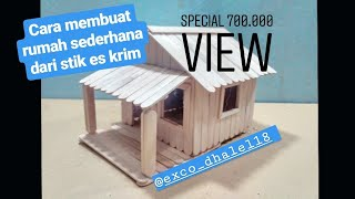Download #30 Cara Membuat Rumah Sederhana Dari Stik Es krim - Tutorial DIY ″How to Make Popsicle Stick Home″ Video