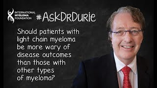 Download Should patients with light chain myeloma be more wary of disease outcomes? Video