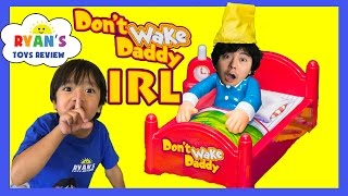 Download DON'T WAKE DADDY IRL CHALLENGE Family Fun Games for Kids Egg Surprise Warheads Extreme Sour Candy Video