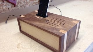 Download Woodworking project - docking station Video