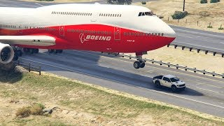 Download GTA5 - Giant Air Plane ″Emergency Landing″ on Highway - Two Engines Failed - (This is GTA5 game) Video