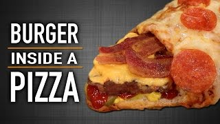 Download BURGER INSIDE A PIZZA Video