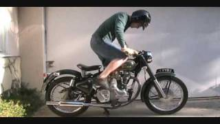 Download How To Kick Start A Royal Enfield Bullet 500 Classic Motorcycle With An Amal 930 Carb Video
