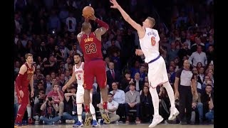 Download LeBron Drains Three-Pointer over Kristaps Porzingis in Cavs Win over Knicks Video