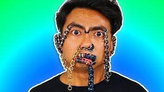 Download A Face Full Of Earrings ~ 100 Piercings Video