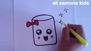Download تعليم الرسم للأطفال بطريقة سهلة كيف أرسم كوب كيوووتHOW TO DRAW A CUTE CUP Video