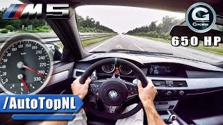 Download BMW M5 V10 BI-SUPERCHARGED G POWER AUTOBAHN POV by AutoTopNL Video