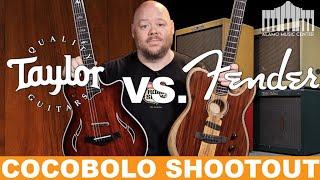 Download Fender Exotic Cocobolo America Acoustasonic Telecaster VS. Taylor Cocobolo Custom T5Z Video