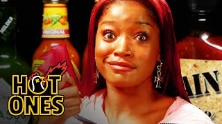 Download Keke Palmer Laughs Uncontrollably While Eating Spicy Wings | Hot Ones Video