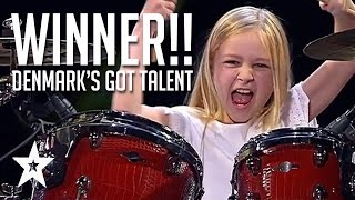 Download 10 Year Old Drummer Johanne Astrid - Winner Of Denmark's Got Talent 2017 Compilation Video