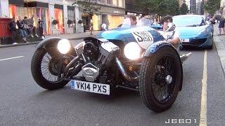 Download Shmee150's Morgan 3 Wheeler 'Shmeewheeler' On The Road in London Video