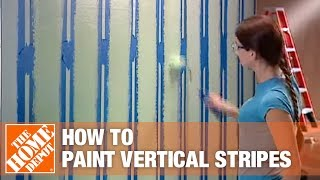 Download How To Paint Vertical Stripes - The Home Depot Video