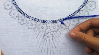 Download Hand Embroidery, Beautiful Neck Embroidery Design Video