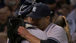 Download Pettitte gets final out in his final start Video
