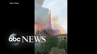 Download French President reacts to Notre Dame cathedral fire: 'We will rebuild it' Video