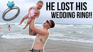 Download HE LOST HIS WEDDING RING AT THE BEACH!!! Video