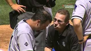 Download 2012/05/18 Konerko hit near eye with pitch Video