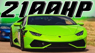 Download World's First TWIN TURBO Huracan! 2100hp! Video
