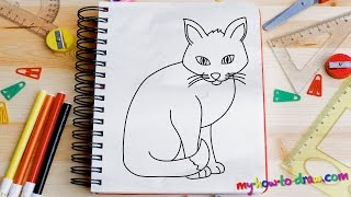 Download How to draw a Cat - Easy step-by-step drawing lessons for kids Video