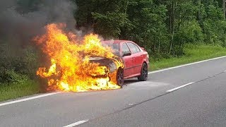 Download MY CAR catches FIRE in illegal race (EN subtitles) Video