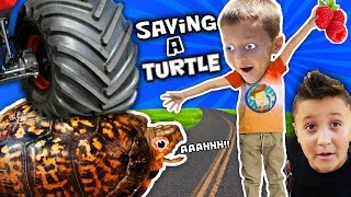 Download WE SAVED AN INJURED TURTLE!! (FUNnel Vision Pet Smart Habitat Vlog) Video