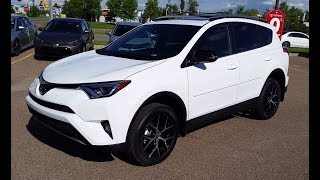 Download 2018 Toyota Rav4 SE AWD in Alpine White Review and Walk Around Test Drive Video